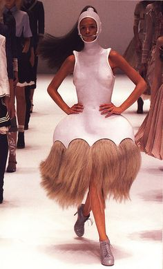 Lilac leather and horsehair (From the Spring/Summer 2005 'It's Only A Game' Collection) Alexander McQueen.