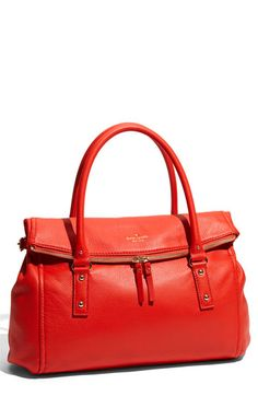 Kate Spade bright orange leather bag