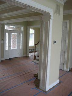 Door and window casings, crown moulding, baseboards.