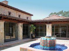 Spanish Tile Fountain