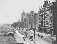 Michigan Avenue at Jackson Blvd; 1880s in Chicago.
