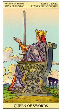 Queen of swords from Tarot of the New Vision