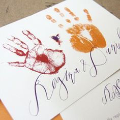 Custom Wedding Invitation | Handprint |Calligraphy |  | www.fetestudio.com | VA Wedding Planning & Design | Wedding Stationery
