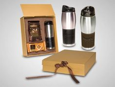 The pinnacle of chocolate euphoria--with a leather-wrapped tumbler, a package of Godiva Hot Cocoa and 4 Godiva Signature Biscuits.  low as $39.95 #Custom #PromotionalProduct #HotChocolate #Candy #Godiva