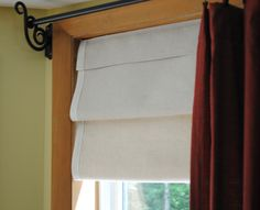 Faux Roman Shade - DIY - Some sewing needed, but nothing too complicated, thankfully!
