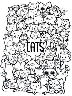Cute doodle art doodles ideas sharpie drawings doddle adult coloring pages drawing doodling and my first Cute Doodle Art, Cat Doodle, Doodle Art Drawing, Cute Art, Doodle Art Letters, Doodle Coloring, Colouring Pages, Adult Coloring Pages, Coloring Books