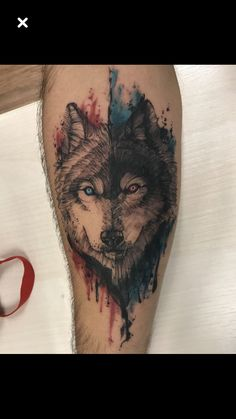 There is a great variety of animals that are used to design tattoos, but lately there has been a tendency to use an animal in particular, the Wolf. The tattoos… Wolf Tattoos, Tattoos 3d, Wolf Tattoo Back, Small Wolf Tattoo, Tattoo Shirts, Lion Tattoo, Animal Tattoos, Trendy Tattoos, Forearm Tattoos