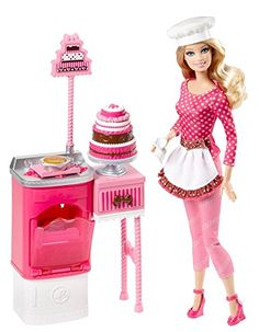 Barbie Careers Cake Decorator Playset...