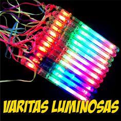Varitas luminosas con luz led