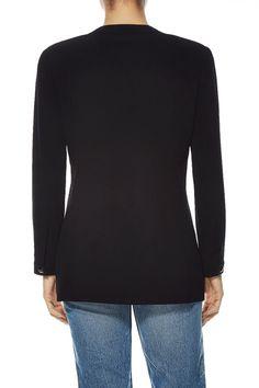What Goes Around Comes Around Black Wool Multi-Pocket Blazer - Chanel
