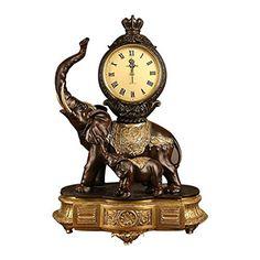 Countertop Table Clock Resin Silent Clock Mantel Clock for Bedroom Living Room Table Clock, QiXian Mantel Clocks, Retro 4, Countertops, Resin, Home Improvement, Living Room, Bedroom, Table, Home Decor