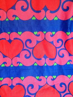70s fab swedish vintage retro fabric with a fantastic bold scandinavian pattern.
