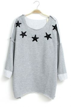 Asymmetric Hem Raglan Sleeves T-shirt $23