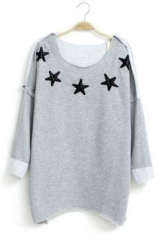 Asymmetric Hem Raglan Sleeves T-shirt $23