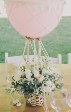 Whimsical Pastel Centerpiece. Baby shower