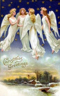 bumble button: Beautiful Victorian and Edwardian Christmas Angels 1890 to 1910 free clip art
