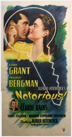 Notorious (1946) - Directed by Alfred Hitchcock - Written by Ben Hecht - With Cary Grant & Ingrid Bergman