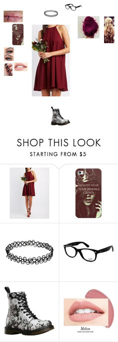 """ootd 2/27/17"" by allie-peay ❤ liked on Polyvore featuring Charlotte Russe, Casetify, Ray-Ban and Dr. Martens"