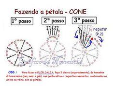 "Ponto Preso1: CROCHE - MEU BROCHE ""FLOR DALIA"" ..."