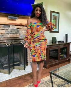 Kente cloth is one of the most use fabrics by Africa fashion designers because if it beautiful and bright colors.