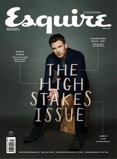 Male Fashion Trends: Chris Evans en portada de Esquire Singapur Abril 2014