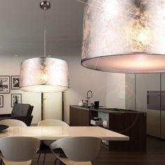 Details Zu 7 Watt LED Luxus Hänge Leuchte Wohn Ess Zimmer Beleuchtung Stoff  Lampe Silber