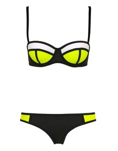 Sexy Triangle Bikini With Rims Polyester Swimsuit T15010601 – Tepayi
