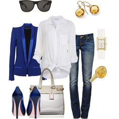Electric Blue, created by anniepro on Polyvore