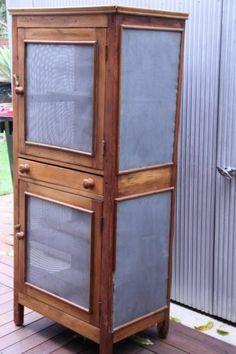 Antique Vintage Early Australian Rustic Pine Food Safe Meat Safe | eBay