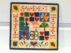 JIM SHORE HOME SWEET HOME QUILT PLAQUE WALL HANGING COUNTRY FOLK ART HOME DECOR