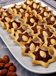 German Christmas Cookies, Holiday Cookies, Baking Recipes, Cookie Recipes, Traditional Christmas Dinner, German Baking, German Cake, Biscuits, Polish Recipes