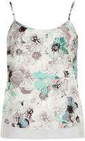 Grey Floral Print Cami