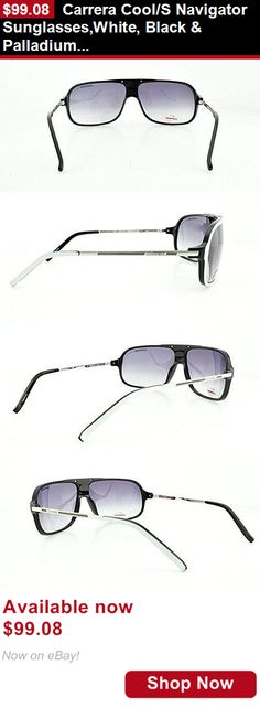 Clothing And Fashion: Carrera Cool/S Navigator Sunglasses,White, Black And Palladium Frame/Grey Gradient BUY IT NOW ONLY: $99.08