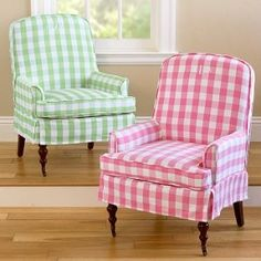 The Pink Gingham Chair is in our Pink, White and Green Bedroom already...Love it!