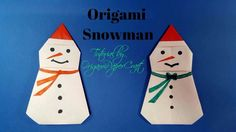 Origami Snowman  ( Người Tuyết ) Tutorial By OrigamiPaperCraft