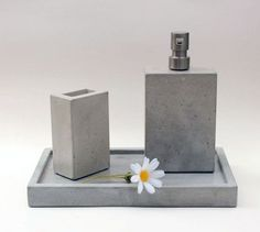 Concrete Bath Set: Another one you can file under Not-A-DIY-But… we had to include this inventive bath set.