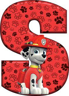 S Paw Patrol - Marshall Paw Patrol Tower, Zuma Paw Patrol, Pup Patrol, Paw Patrol Cake, Paw Patrol Party, Alphabet Birthday Parties, Puppy Birthday Parties, Alphabet Party, Puppy Party