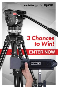 3 lucky winners will WIN either 1 of 2 Sachler Ace M Tripods or a Litepanels Caliber Kit thanks to Vitec Videocom!