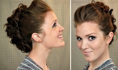 How to Style a Faux Hawk Updo...I feel like I'd need a second set of hands...can you tell I'm on a faux hawk kick??