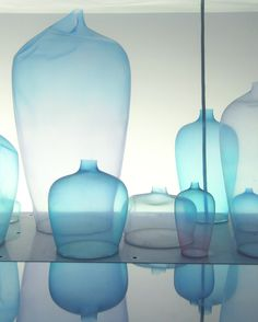 Milan Design Week 2017- Nendo's Invisible Outlines exhibit was incredible. Held at the Jill Sander store, the exhibit included the jellyfish vase, shown above. Thin silicone vases moved fluidly in the submerged water, creating a visual masterpiece of movement, color and transparency.