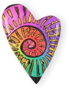 Polymer Clay Tools, Polymer Clay Pendant, Polymer Clay Projects, Polymer Clay Beads, Rock Crafts, Paper Clay, Clay Tutorials, Heart Art, Clay Creations