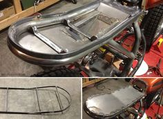 Battery tray and seat pan