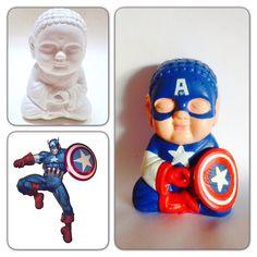 Colorful Capitán América Superman, Batman, Dead Pool, Spiderman Venom, Hippie Chic, Holi, Smurfs, Decoupage, Superhero