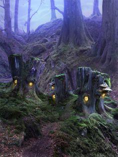 fairy homes - complete fantasy, but still dreamy.