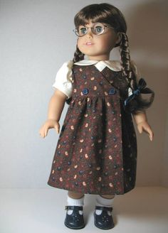 From 2011 - 1940's wrap jumper and blouse for Molly made from a modified pattern from a doll clothes book