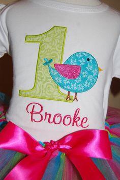 Personalized Birthday Girl Bird TShirt Design Your by TwoKangaroos, $33.00