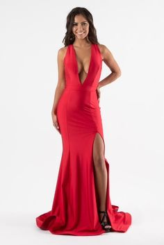 Evening Dresses, Formal Dresses, Color Filter, Bridesmaid Dresses, Bridesmaids, Plunging Neckline, Different Styles, Types Of Sleeves, Red Color