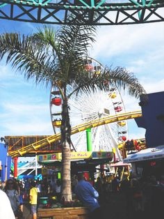 Santa Monica Pier, California. A great way to get out of the hustle bustle of LA and experience a quintessential site of Los Angeles, California.