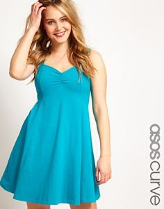 Plus Size Dress With Sweetheart Neckline - $33.14 | Asos Curve [Plus Size Clothing]
