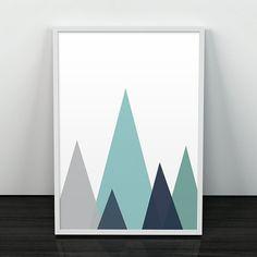 Berge Art geometrisch abstrakte Kunst von ShopTempsModernes